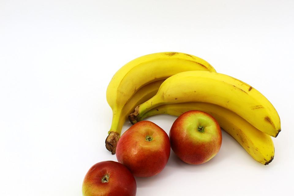 banán a jablka
