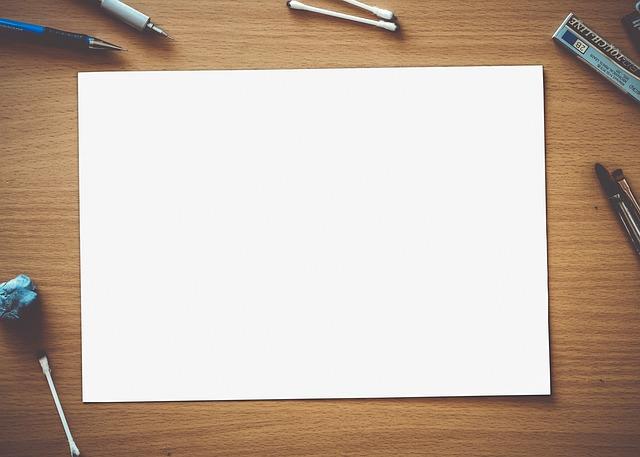 prázdný papír