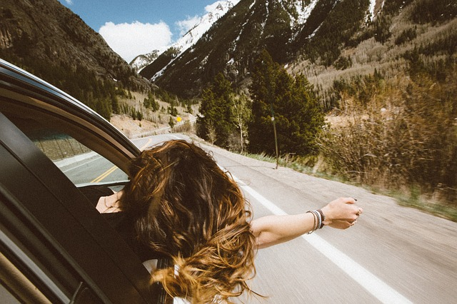 projížďka v horách